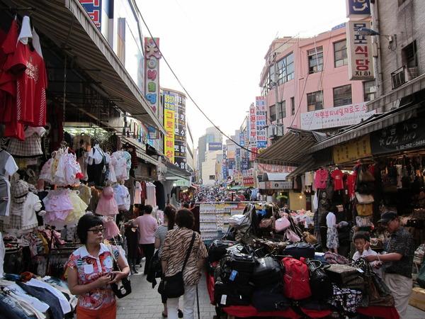 韓国の有名な市場